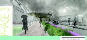 UF Rainworks Challenge sketch of an educational and artful way to design a greenroof
