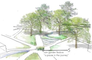 UF EPA Rainworks Challenge artful and educational raingarden proposal